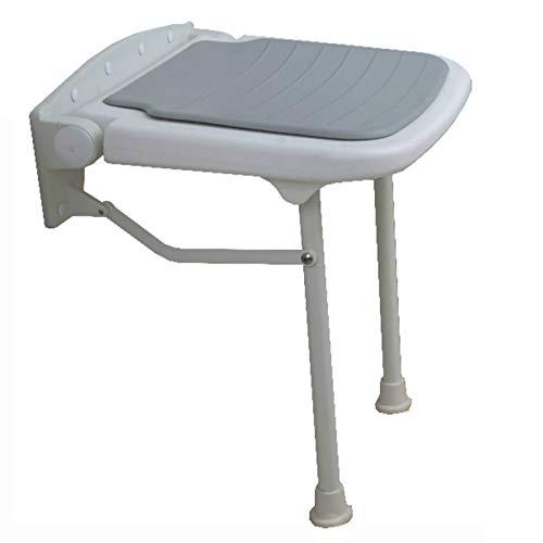 XIONGXIONG Sgabello da Bagno per Anziani Fissato al Muro Sgabello da Bagno Pieghevole per Vasca da BagnoBagno Esterni (Size:15x14.4x17.7 inch; Color:Gray)