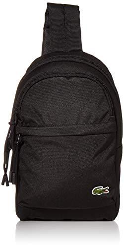 Lacoste Men's Neocroc Strap Mini Backpack, black, One Size