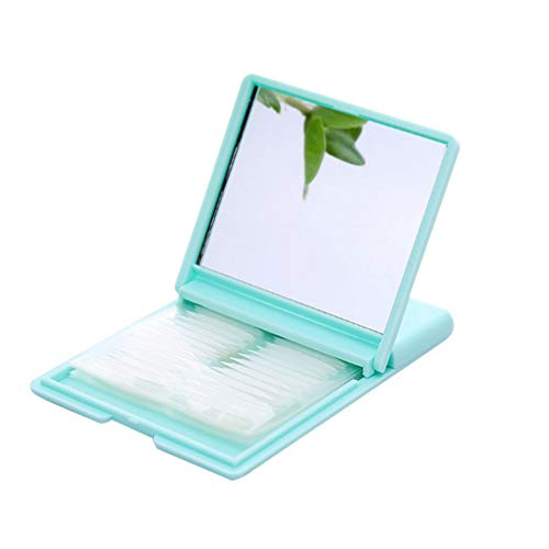 Solustre Autocollants Autocollants pour Paupières à Double Bande de Paupières avec Boîte D'emballage de Miroir 240 Paires de Bandes de Lifting Des Yeux en Pâte de Paupière de Maquillage (Bleu Ciel)