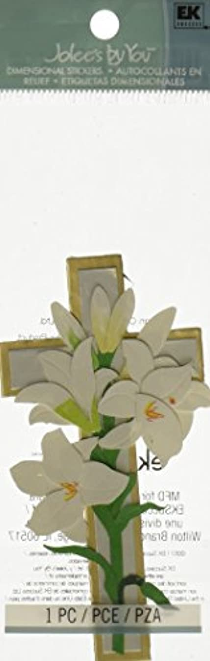 Jolee's By You Dimensional Sticker, Lily/Cross
