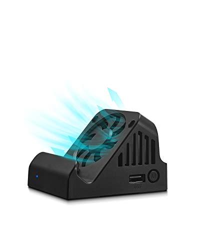 Dock Switch avec leVentilateur TÉLÉ Projection, Station de Recharge pour Nintendo Switch, Station d'Accueil leChargeur, Station de Refroidissement Compact 4K HDMI Adapteur, USB 3.0