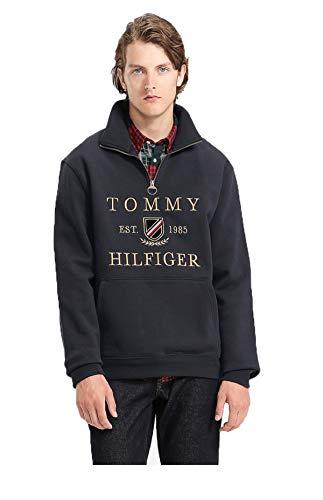 Tommy Hilfiger Felpa Uomo Icon Half Zip blu AI9 XL