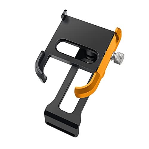 WYYUE Motocicleta Titular del TeléFono, Montaje 4 Garras con Sellos, AleacióN De Aluminio Ajustable 360 ° para iPhone O Samsung