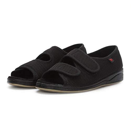 LNLJ - Pantuflas ajustables ortopédicas de alta calidad, transpirables, ampliadas y engrasadas, para el pulgar, valgus deformado, pie para llevar zapatos de tela, negro, 41