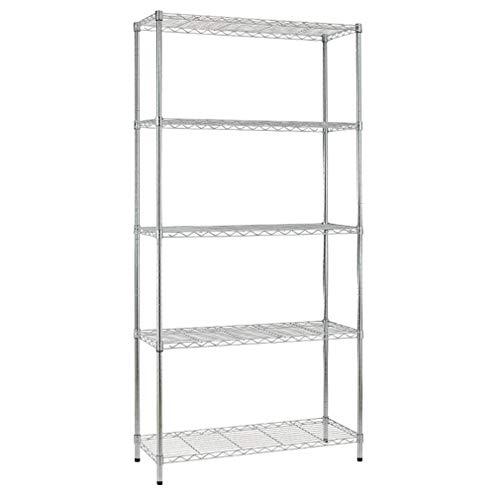 YAHEETECH 5-Shelf Heavy Duty Storage Shelving Unit, Large Adjustable Garage Shelving Storage Rack Metal Shelf Organiser, 35.4''W x 17.7''D x 73.2''H