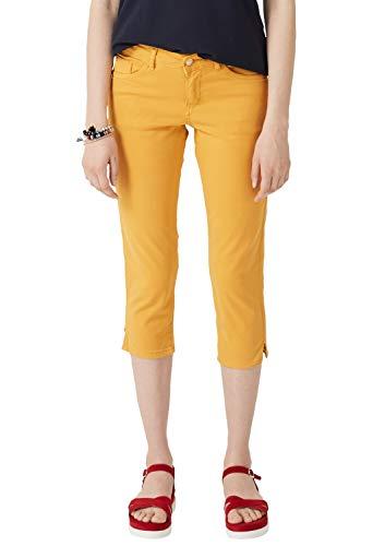 Pantalones amarillos media pierna tono mostaza