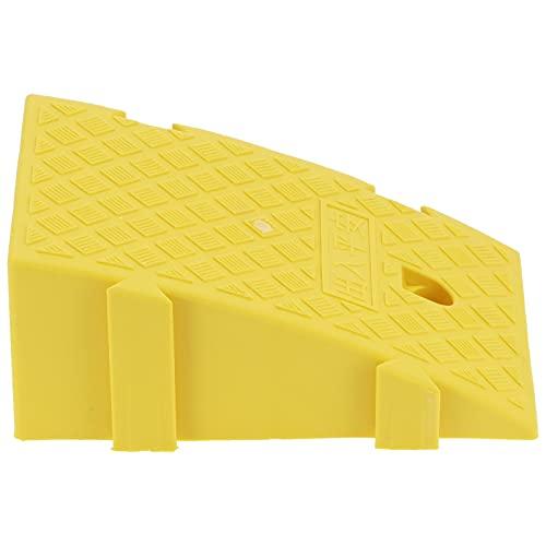 Rampa para bordillos de plástico, PP de grado industrial Rampa para bordillos de plástico para pendientes de bordillos Entradas de casas para aceras para uso en muelles de carga de garajes(amarillo)