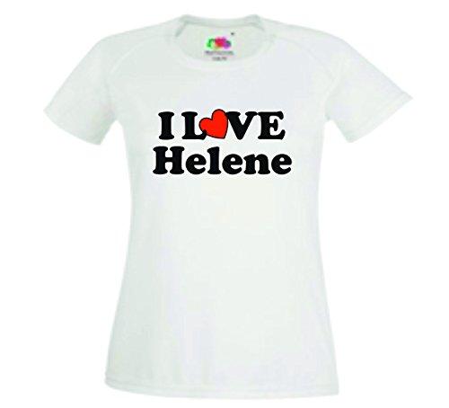 Helene Damen T-Shirt Motiv22 - Damen - Weiss - M