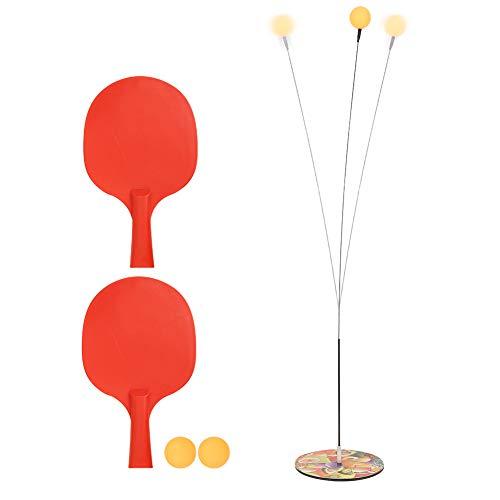 CUEA Eje elástico de Entrenador de Tenis de Mesa, Juego de paletas de Bolas de Ping-Pong, Dispositivo de Entrenamiento de Pong para Adultos y niños para Juegos en Interiores y Exteriores