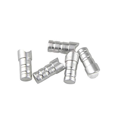 ZSHJGJR 50pcs Tiro con Arco Nocks de Aluminio para Ballesta Caza Flecha Nocks Aluminio Pin Nock Colas de Flecha para ID 6.2/7.6mm Eje de Flecha de Ballesta (6,2 mm)