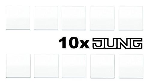 JUNG AS 500 Alpinweiß 10er Set (Wippe für ein/aus)