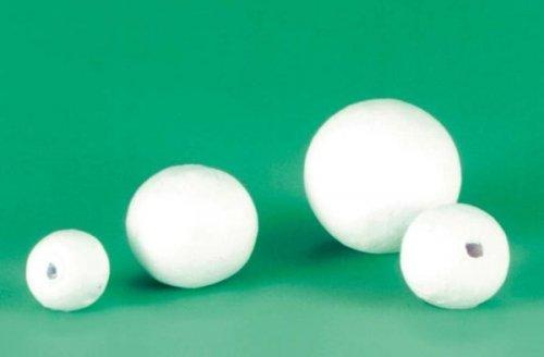 Sfere di ovatta bianche, 15 mm, 50 pezzi
