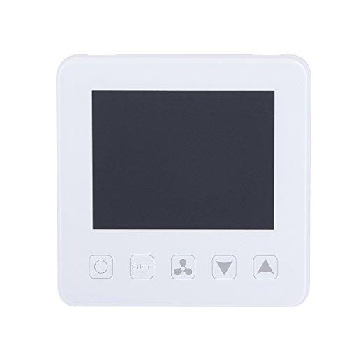 Vosarea Termostato Programmabile a schermo tattile Termostato digitale intelligente regolatore di temperatura per unità di ventilo-convecteur del climatizzatore centrale (Bianco)