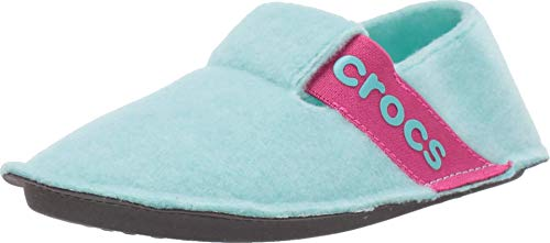 crocs Unisex-Kinder Classic Slipper Kids Hohe Hausschuhe, Blau (Ice Blue 4o9), 29/30 EU