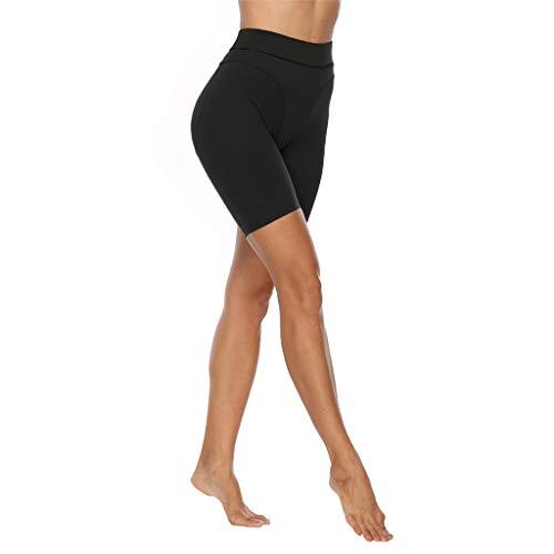 Lifet Yogahose Damen Kurz, Fitnesshose High Waist Yoga Sport Shorts Leggings Für Sport Gym Bike Sweat Schwarz S~XL