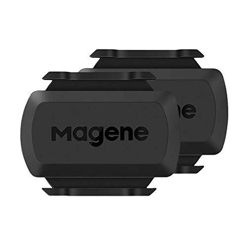 Magene S3+ Sensor de Velocidad/Cadencia para Ciclismo, Sensor Inalámbrico de RPM de Bicicleta Ant+/Bluetooth 4.0
