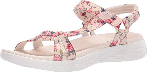 Skechers Women's ON-The-GO 600-140018 Sport Sandal, Natural/Multi, 7 Medium US