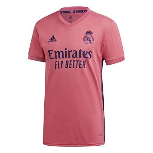 Adidas Real Madrid Temporada 2020/21 Camiseta Segunda Equipación Oficial, Unisex, Rosa, XS