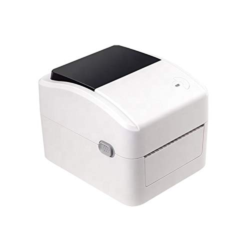F2C 4 inch Direct Thermal Label Printer Compatible with Mac & Window, 152 mm/s High Print Speed Shipping Barcode Label Printer Without Roll Stand- White