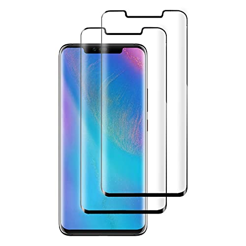 PUUDUU [2 Pack Protector de Pantalla para Huawei Mate 20 Pro, Sin Burbujas, Anti-Rasguños, HD Transparente,Cristal Templado Protector de Pantalla para Huawei Mate 20 Pro