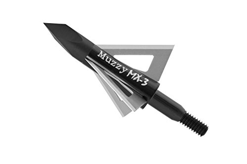 Muzzy Bowhunting Broadheads 3 Blades Trocar Tip, 75, 100 or 125 Grain, 3 Pack