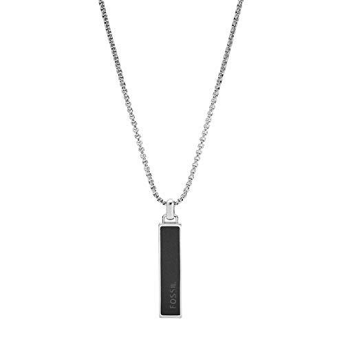 Fossil Herren Halskette Dive Anhänger Achat schwarz, JF03440040