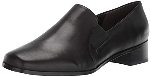 Trotters Women's Ash Loafer,Black Kid,8 WW