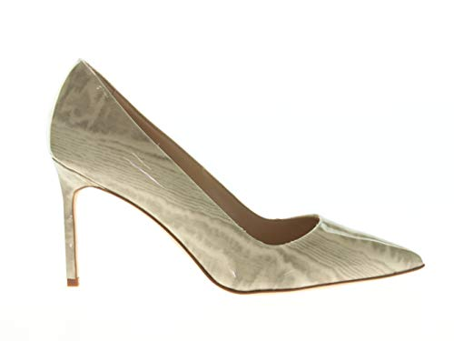 MANOLO BLAHNIK Damen Schuhe Pumps Beige Leder, Größe:38