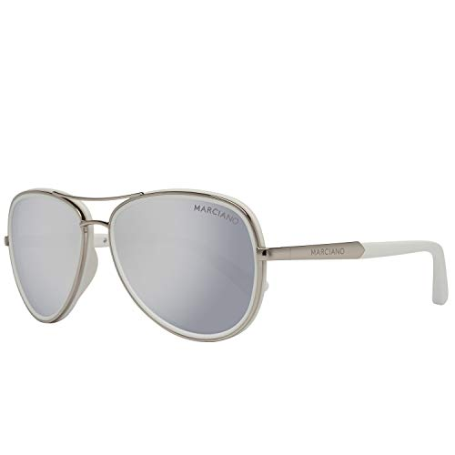 Guess GM0735 5706C Guess by Marciano Sonnenbrille GM0735 06C 57 Aviator Sonnenbrille 57, Silber