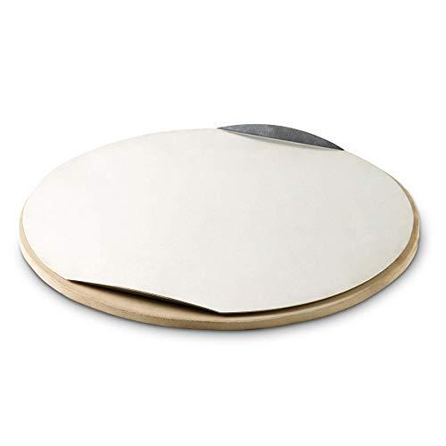 Weber® Pizzastein rund Ø36cm, mit Alublech, für Holzkohlegrills, Gasgrills, Elektrogrills und Backofen, 17058