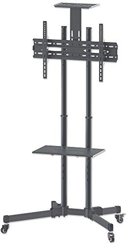 Manhattan - Soporte para TV, Adaptable a Pantalla de 37' - 70', hasta 50 kg de Carga, Montaje TV en Carrito para Pantallas LED, LCD,...