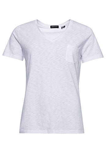 Superdry Pocket V Neck tee Camiseta, Óptica, M para Mujer