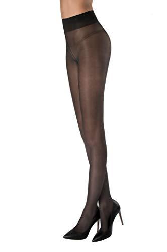 WOOTI Panty BUFALINA 40 den, color Negro, talla L, Velado, Elegante, Cómodo, Contenitivo, Suave, Resistente