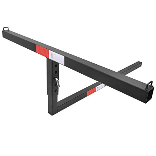 """TAC 2"""" Truck Bed Trailer Hitch Mount Extender 500 LBS Capacity Utility Adjustable Universal Pick Up Extension Rack for Kayak Canoe Ladder Lumber Pipes Cargo Carrier Accessories with Pins -  TULR-AC04B"""