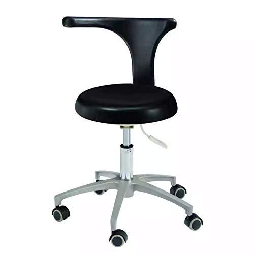 Silla de escritorio móvil ajustable del taburete del médico del cuero de la PU para el uso de la oficina HS-2