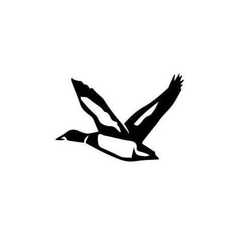 Sticker eend colvert vogel zelfklevend grootte: 4 cm kleur: zwart