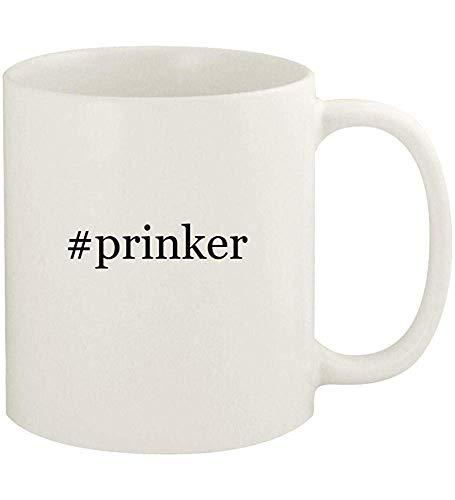 #prinker - Taza de café blanco de cerámica Hashtag de 11oz