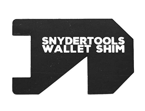 Wallet Shim - Credit Card Size Tool   Cool Gadgets for Men and Women: PVC Wallet Card - Black