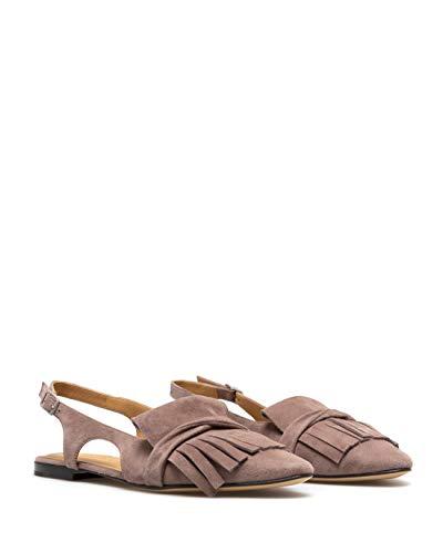 POMME DOR Damen Schuhe Sandalen Nude Wildleder Rosa