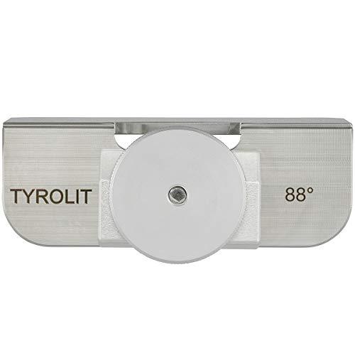 Tyrolit - Escuadra de Acero Inoxidable (88°, para afilar Bordes de esquís y Tablas de Snowboard)