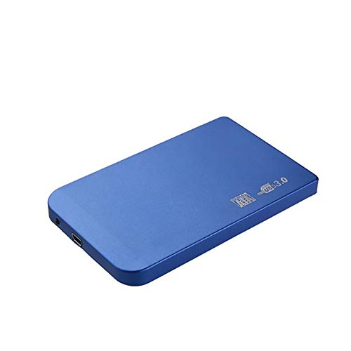 Ssd case, HDD Case 2.5 SATA to USB 3.0/2.0 Hard Drive Enclosure for SSD Disk HDD Box Type C Case Support UASP HD External Hard Disk (Color : Blue, Size : 3.0)