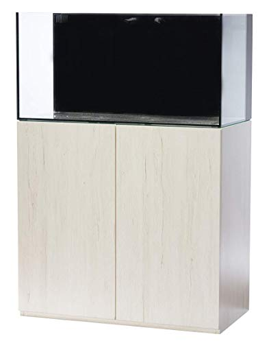 R&J Enterprises 50 Gallon Fish Tank White Wood Grain Fusion X Aquarium Stand with Rimless Glass Freshwater or Saltwater Aquarium Combo. Aquarium Kit Perfect for Home or Office. Real Wooden Quality!