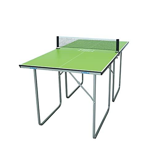 JOOLA Table de ping-Pong Moyenne – Table de ping-Pong d'intérieur avec Filet de ping-Pong 22 kg, Vert, 168 x 84 x 76 cm