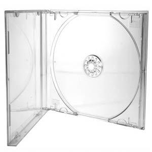 Cajas de CD/DVD Dragon Trading® de 10,4mm para 1 disco con carcasa transparente (paquete de 100 unidades)
