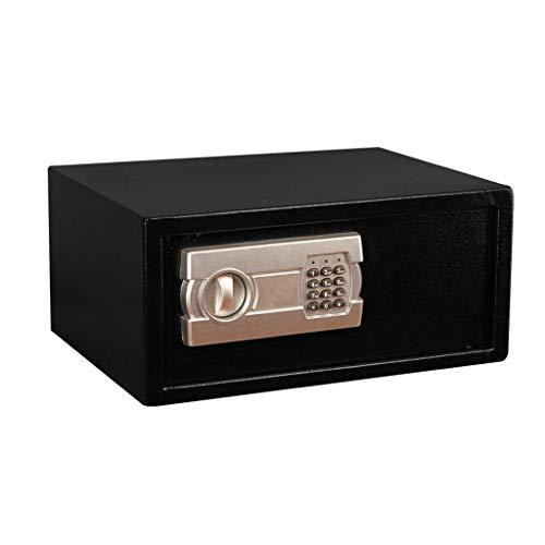 LHSUNTA Cajas y organizadores Caja de seguridad con teclado digital de seguridad para oficina de acero a prueba de humedad incorporada alarma instalación en pared negro 43 x 33 x 20 cm
