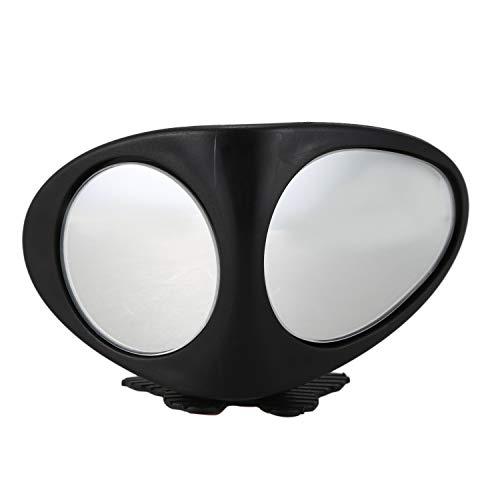 Gesh Auto Blinder - Espejo retrovisor para coche (rotación de 360º, con pestañas de ajuste, gran angular, rueda delantera, espejo retrovisor izquierdo)