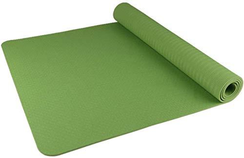 HZYDD Yoga Verde Ispessimento Antisdrucciolevoli allargamento e Protezione Ambientale TPE Yoga Mat Fitness Rosa Mat, Colore: Blu (Color : Green)
