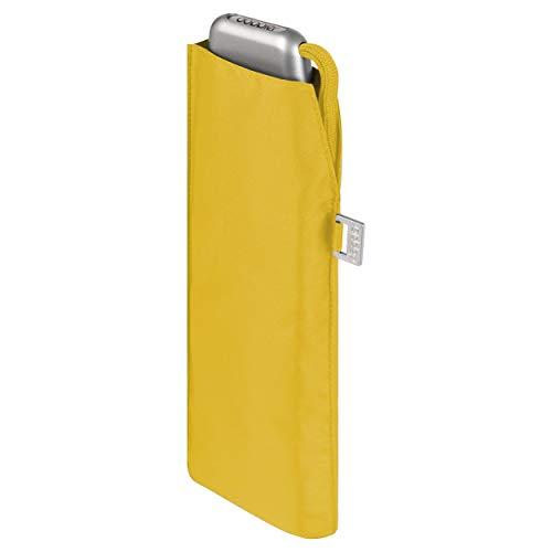 doppler Regenschirm Taschenschirm Mini Slim Carbonsteel sturmsicher bis 100km/h flach & leicht Shiny Yellow
