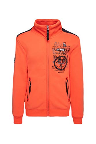 Camp David Herren Sweatjacke orange XXL