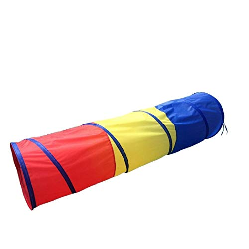 Kids Crawl Through Play Tunnel Toy Pop up Tunnel for Kids Toddlers Babies Infants Children Gift Indoor Outdoor Tube